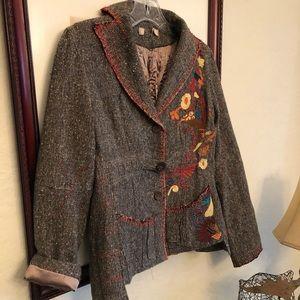 Anthropologie Tweed Fall Blazer